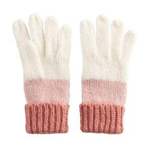 Women's LC Lauren Conrad mixed yarn striped gloves